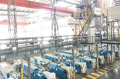 Sistema de transporte y compuesto completamente automatico de polvo de PVC