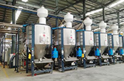 Sistema de dosificacion y transporte automatico granular-fullautomatico de PVC