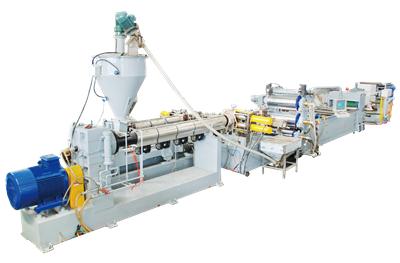 Linea de produccion de laminas de plastico LS