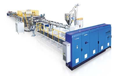 Linea de produccion de paneles compuestos plasticos y aluminio LS