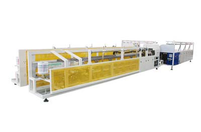 Dispositivo de empaquetadoen linea de tubos de plastico LS